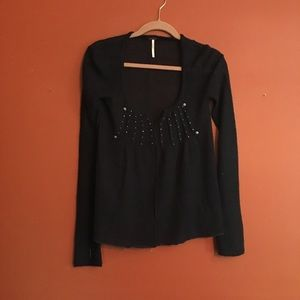 Free people mohair beaded sweater xs